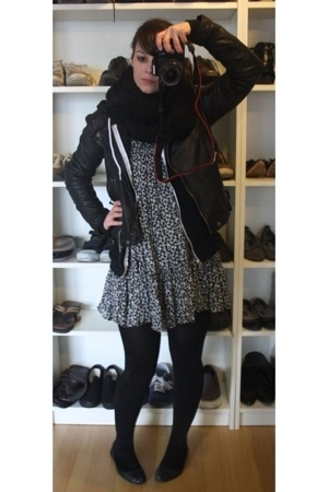 French Connection dress - American Apparel sweater - Zara jacket - bronx shoes -
