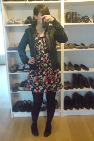 Zara jacket - French Connection dress - bronx shoes