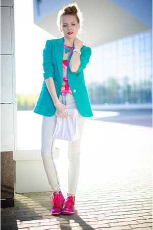 aquamarine my design blazer - hot pink Inkkas sneakers