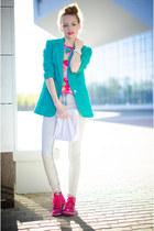 aquamarine my design blazer - hot pink Inkkas sneakers