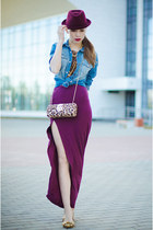 magenta GoodNight Macaroon skirt - magenta Miss Nabi hat