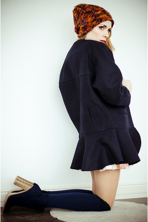 navy BangGood coat - beige WOAKAO dress