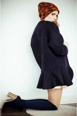 navy BangGood coat - beige WOAKAO dress