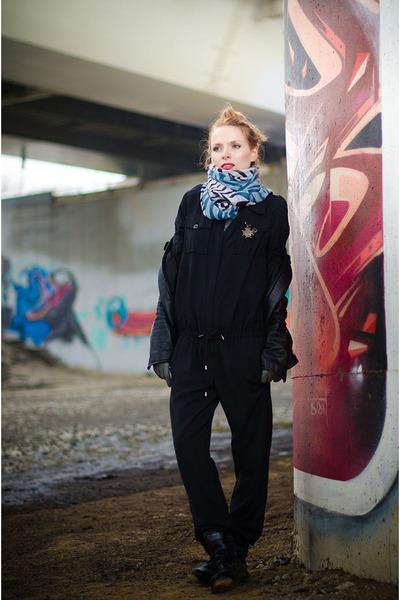 white nowIStyle scarf - black Marika romper