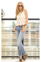 Zara jeans - ecco boots - Zara blouse