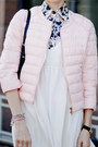 White-persunmall-dress-light-pink-motivi-jacket