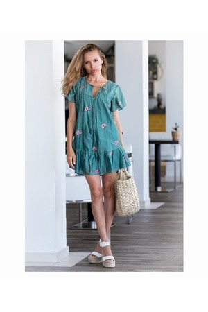 turquoise blue Tularosa dress