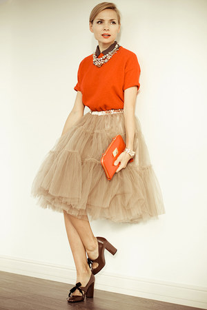 tan Chicwish skirt