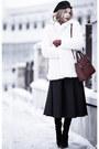 White-stradivarius-coat-crimson-oasap-sweater-maroon-mango-bag
