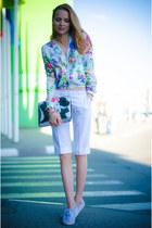 white IMOMOICOM jacket - white my design shorts