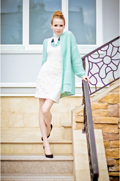 aquamarine Miss Nabi cardigan - white Kristines Collection skirt