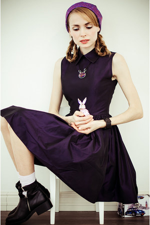 amethyst mrgugu hat - deep purple by tini-tani dress