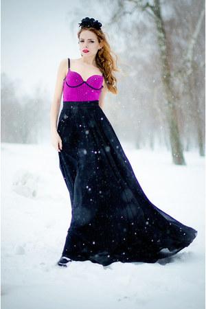 54cb0bc617 black Renata Dorofeeva hair accessory - hot pink wwwvedettestorecom bodysuit