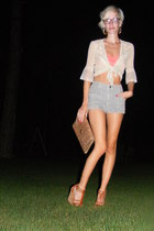 bra - shirt - shorts - shoes - purse