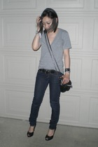 American Apparel t-shirt - Uniqlo jeans - H&M belt - Steve Madden shoes - Alexan
