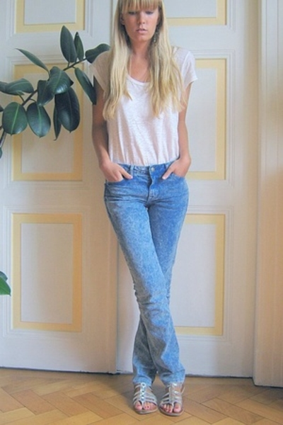 American Apparel jeans - monoprix shirt - new look shoes