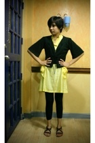Mango cardigan - Preview dress - tights - Charles & Keith shoes - Local Departme
