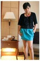 Mango blazer - Top - multi-color necklace from cebu - ring from cebu intimate -