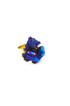 Cobalt Aura Crystal Ring