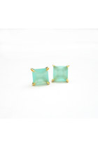 Aqua Mint Stud Earrings