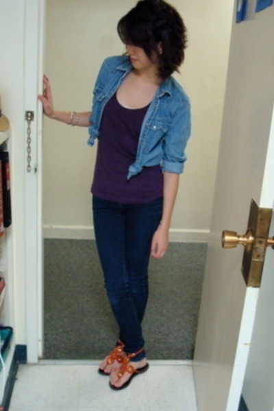 Ralph Lauren jacket - American Apparel top - skinny jeans jeans - taiwan shoes