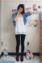 Ralph Lauren jacket - hollister tights - abercrombie and fitch top - Sergio Ross