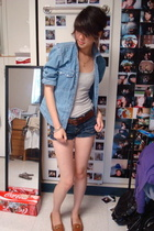 Ralph Lauren jacket - abercrombie and fitch top - Gap belt - hollister shorts