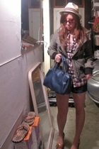 shirt - jacket - hat - shoes - purse - shorts