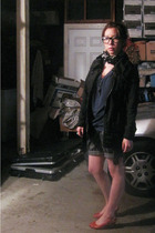 Urban Outfitters shirt - H&M jacket - shorts - seychelles shoes - scarf - vintag