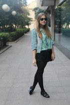 Zara jacket - H&M shorts - BLANCO blouse - Zara flats