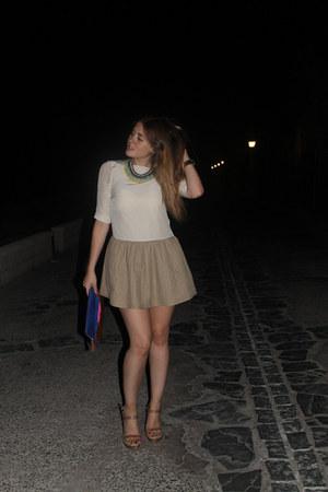 Zara bag - H&M dress - Uterqe wedges - Zara necklace