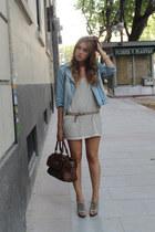 H&M dress - Zara jacket - Bimba & Lola bag - Mango heels - Michael Kors watch