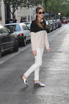Zara flats - Zara jeans - Zara sweater
