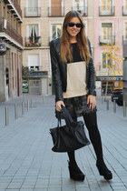 Rosa Palo dress - pull&bear jacket - Zara sweater - BLANCO bag