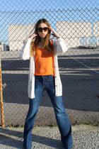 Zara jeans - Zara t-shirt - Mango cardigan