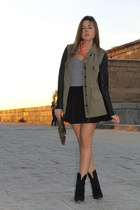 Zara coat - Zara boots - Zara bag - Fridays Project top - H&M skirt