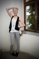 random shirt - New Yorker vest - New Yorker pants - Local Boutique shoes - vinta