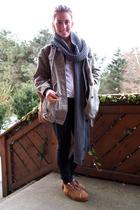 Vans shoes - Fornarina pants - H&M men scarf - acne jacket - Vintage inherited f