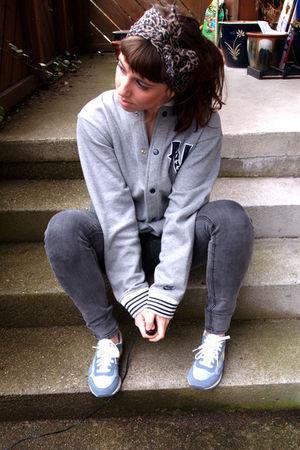 nike shoes - Cheap Monday pants - nike jacket - vintage scarf