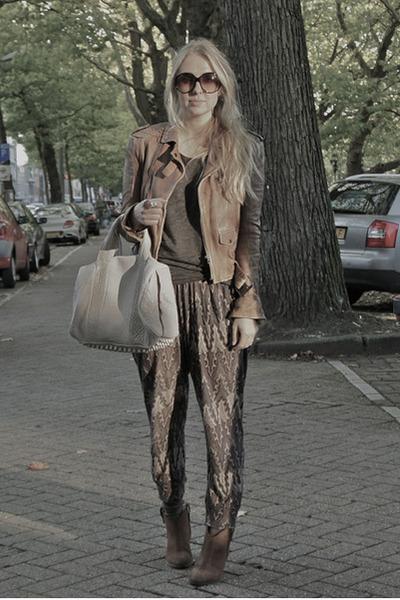 amethyst Etoile isabel marant pants - bronze Zara jacket