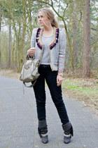 Isabel Marant jacket - Isabel Marant boots - Zara jeans - balenciaga purse