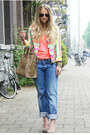 Bubble-gum-much-gusto-jacket-camel-celine-purse