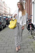 balenciaga purse - Zara pants - Katharine Hamnett blouse