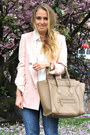 Brown-h-m-boots-navy-h-m-jeans-light-pink-stella-mccartney-blazer