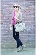 Isabel Marant boots - Isabel Marant jacket - balenciaga purse