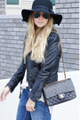 Helene-berman-hat-levis-jeans-zara-jacket-chanel-purse