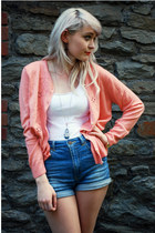 bubble gum knit Pumpkin Soup cardigan