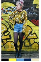 yellow printed Topshop jumper
