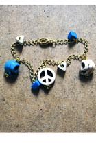 turquoise blue bead bracelet Pumpkin Soup bracelet