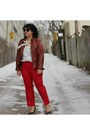 Leather-danier-jacket-leopard-print-nine-west-pumps-wool-red-jcrew-pants